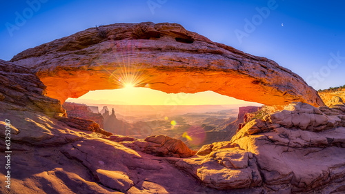 Foto op Canvas Natuur Park Mesa Arch Panorama