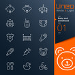Lineo White & Light - Baby and Childhood outline icons