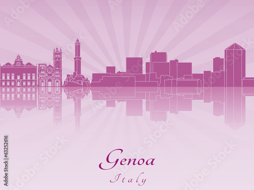 Genoa skyline in purple radiant orchid