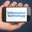 Information concept: Information Technology on smartphone
