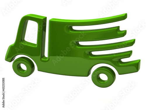 Green fast delivery icon