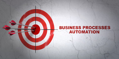 Business concept: target and Business Processes Automation on