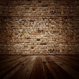 Fototapety Vintage brickwall room