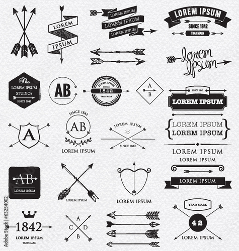 Vintage design elements. Retro style.
