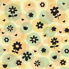 Repeat Spring Flowers Fun Pattern