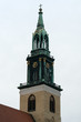 Belfry of St. Mary's Church (Marienkirche). Berlin. Germany.