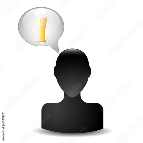 silhouette of a man head