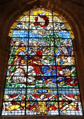 Vidriera del apóstol Santiago, Catedral de Sevilla, España