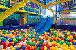 Modern playground in the room - 63256061