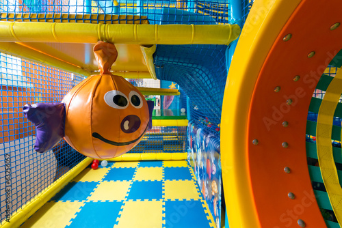 Modern playground in the room - 63256052