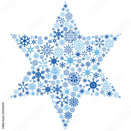 Snowflake Star Illustration.