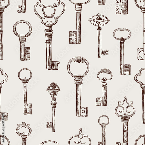 pattern of the old keys