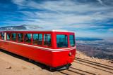 Pikes Peak Cog Train from top of Pike Peak, Colorado Springs, CO