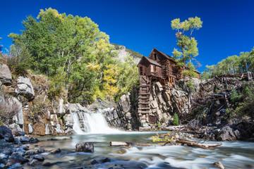 Abandon Crystal Mill in Colorado mountain