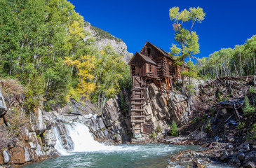 Abandon Crystal Mill in Colorado mountain