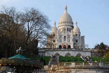 Basilica of Sacre Coeur cathedral, Paris