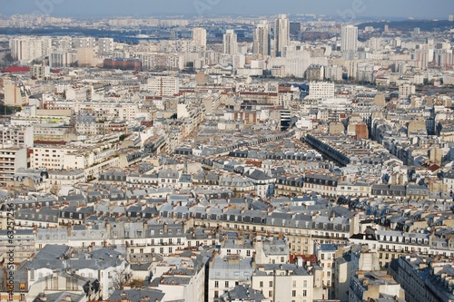 Paris cityscape from high viewpoint