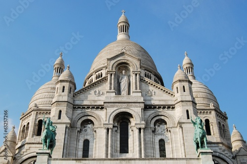 Basilica of Sacre-Coeur cathedral exterior, Paris, France