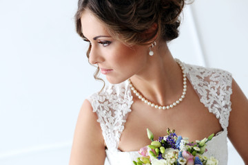 Wedding. Beautiful bride