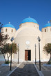 Orthodox church in Perissa (Santorini Island - Greece)