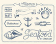 Vintage seafood restaurant collection - 63259696