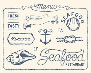 Vintage seafood restaurant collection