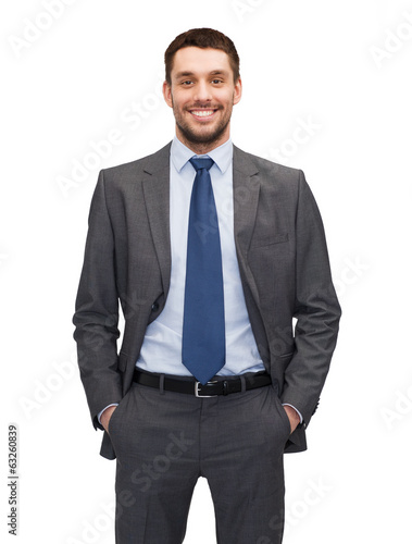 canvas print picture handsome buisnessman
