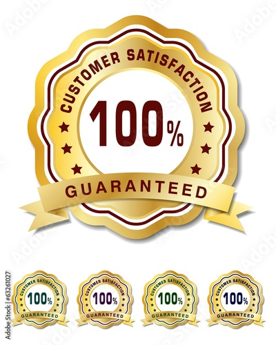 Customer satisfation guarantee golden badge