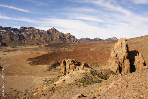 Teide National Park Roques de Garcia in Tenerife at Canary Islan
