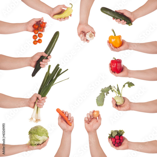 Hand vegetable set