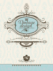 Design elements in vintage style.