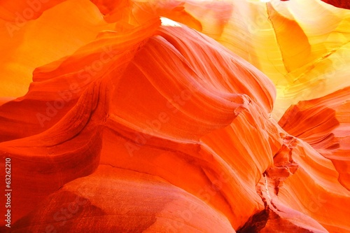 Vibrant orange glow of a canyon in Arizona, USA