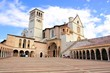 View of the famous Basilica of St Francis, Assisi, Italy