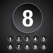 Number set vector grey