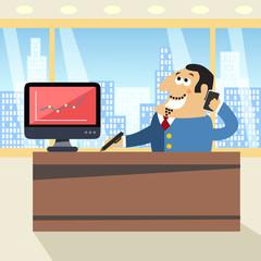 Boss in office