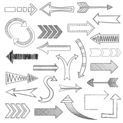 Arrows icons set sketch