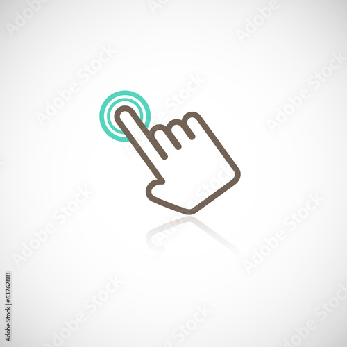 Touching hand icon