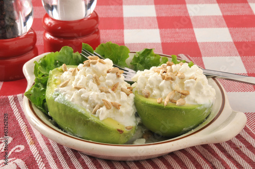Avocado and cottage