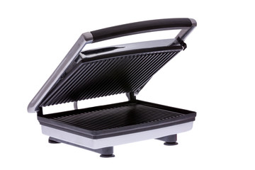 Domestic electric panini maker, angled view