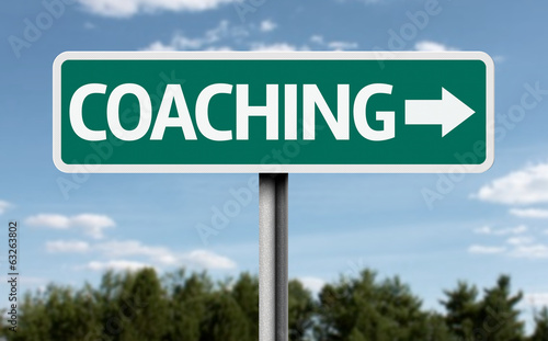 Coaching road sign