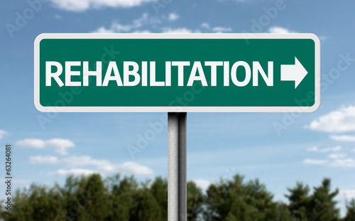 Rehabilitation road sign