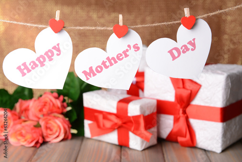 canvas print picture Happy Mothers Day message written