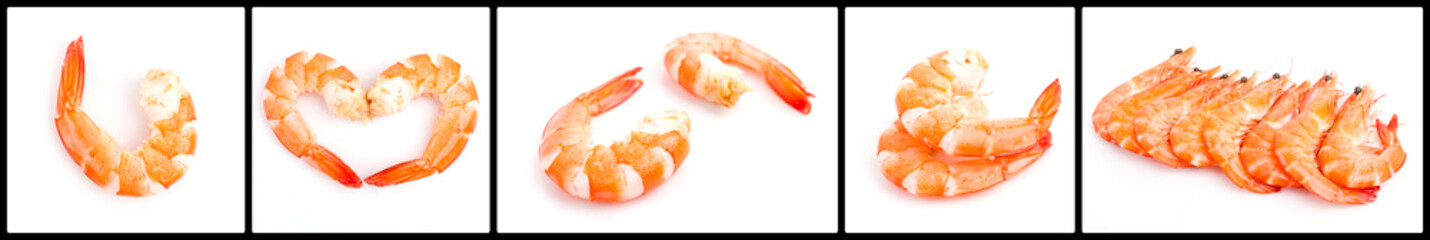Boild shrimp isolated