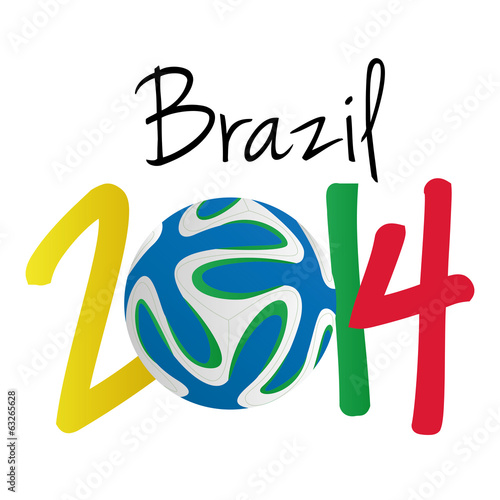 Soccer Illustration For Brazil 2014 Editable