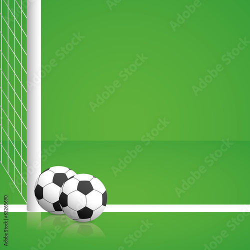 Soccer Illustration With Editable Elements Isolated