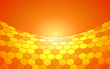 summer gradient yellow hexagon pattern background