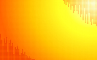 summer orange with little square polygon pattern background