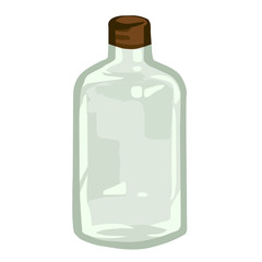 empty bottles isolated illustration