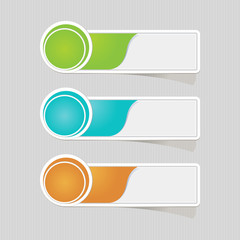 Sticker label paper colorful set