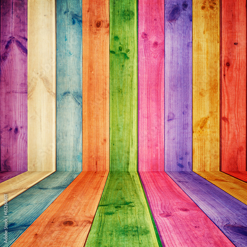 illustration of colorful wooden room